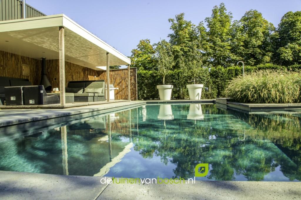 Wellnesstuin met zwembad jacuzzi twello gld for Tuin met zwembad