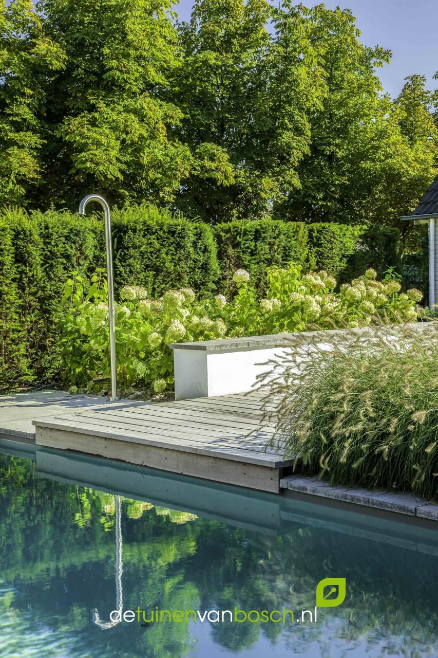 Wellnesstuin met zwembad jacuzzi twello gld - Deco tuin met zwembad ...