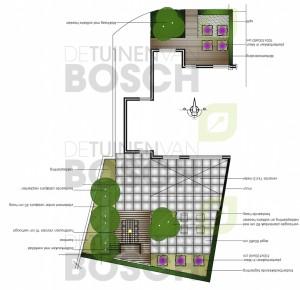 Moderne tuin met luxe buitenkeuken deventer ov for Ontwerp plattegrond